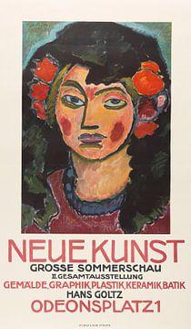 Plakat für die große Sommerschau der Galerie Neue Kunst, München, Alexej von Jawlensky, 1913