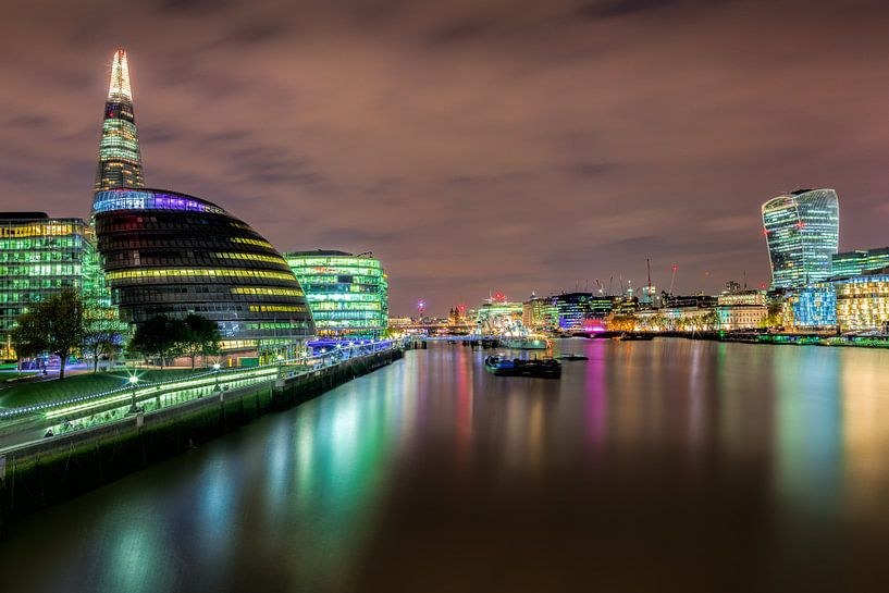 Moderne architectuur in Londen van Roy Poots