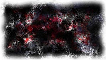 Abstract schwarz rot weiß von Maurice Dawson