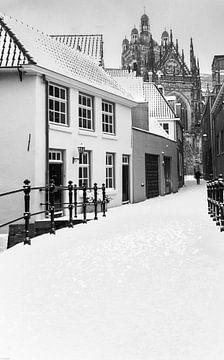 Die St.-Jan's-Kathedrale in Den Bosch im Winter von Ton van den Boogaard
