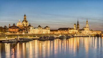 De skyline van Dresden van Michael Valjak