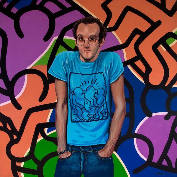Keith Haring Portret van Paul Meijering