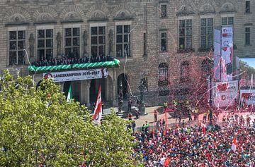 Champion de la cérémonie Feyenoord sur le Coolsingel à Rotterdam sur MS Fotografie | Marc van der Stelt