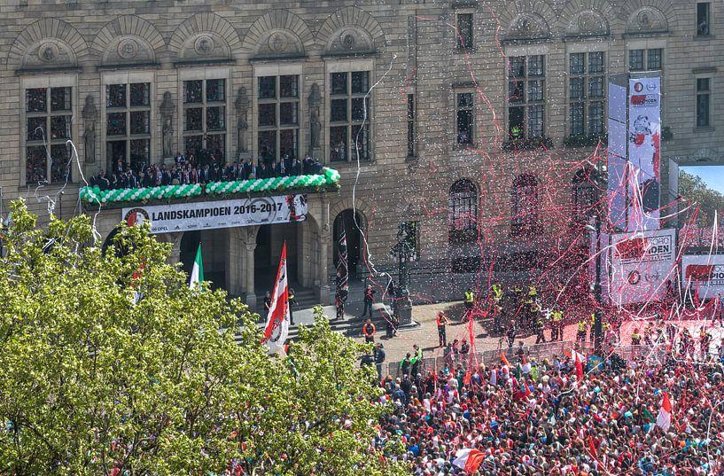 Huldiging landskampioen Feyenoord op de Coolsingel in Rotterdam van MS Fotografie