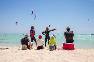 Kitesurfen Tawila Island Egypte van Ton Tolboom