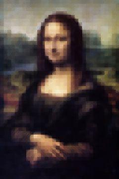 Mona Lisa mit Blöcken von Maarten Knops