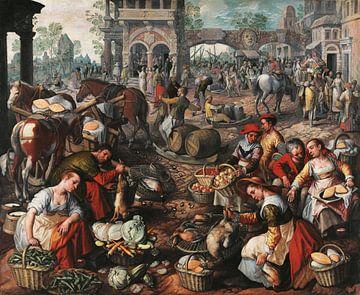 Markt auf dem Platz. Joachim Beuckelaer