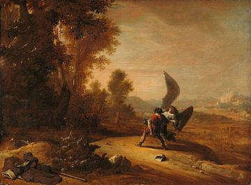 Jacob worstelt met de engel, Bartholomeus Breenbergh