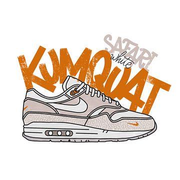"""Nike Air Max 1 """"Safari Weiß Kumquat"""" von Pim Haring"""