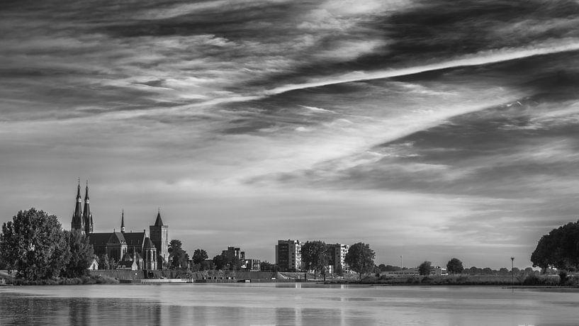 Cuijk (black and white) van Lex Schulte