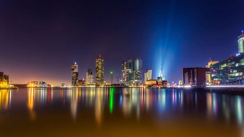 """Skyline Rotterdam """"Kop van Zuid"""" van Michael van der Burg"""