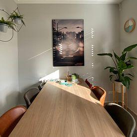 Klantfoto: Karel Doormanstraat Rotterdam van Paul Poot, op print op doek