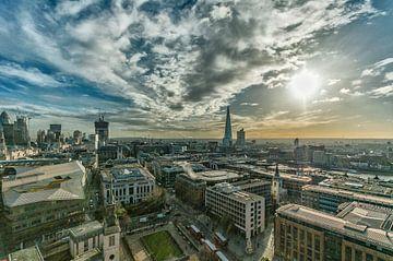 Overzichtsfoto van Londen vanaf de St. Pauls Kathedraal van John van Weenen