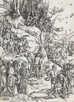 ALBERT DÜRER, Die Folterung der Zehntausend, um 1496