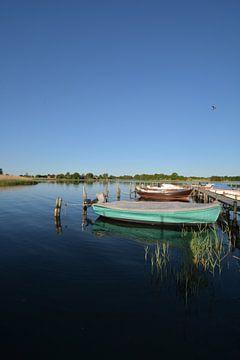 Wreecher See - Rügischer Bodden, samenvloeiing Wreecher See - Putbus op het eiland Rügen van GH Foto & Artdesign