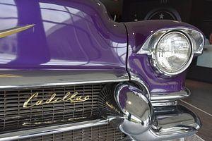 Paarse Cadillac van