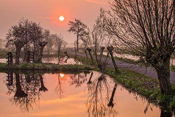 Lever du soleil à Bergame sur Rob Boon