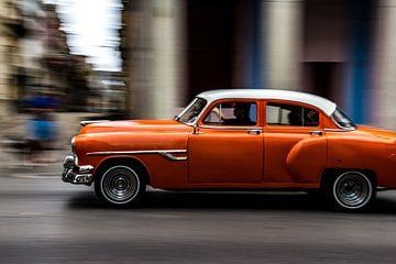Klassieke auto in Havana, Cuba van Jorick van Gorp