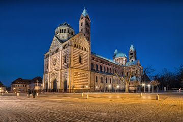 Cathédrale de Speyer à l'heure bleue sur Uwe Ulrich Grün