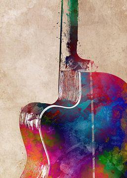 Gitaar 11 muziekkunst #gitaar #muziek van JBJart Justyna Jaszke