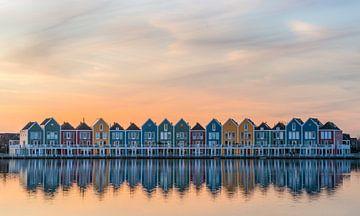 Die Regenbogenhäuser in Houten von Toon van den Einde