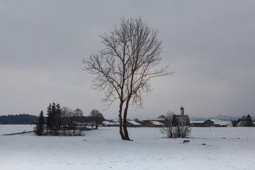 Uplannend stop in a winter scenery sur