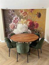 Kundenfoto: Stillleben mit Blumen in einem Vase, auf nahtloser fototapete