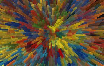 Block kleurrijke II van Marion Tenbergen