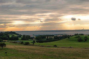 Wolkendek Met Zonnestralen van Melvin Fotografie