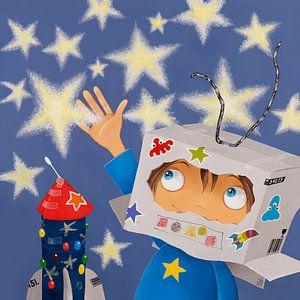Astronaut die de sterren raakt! van