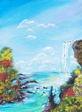 Wasserfall van Vera Markgraf