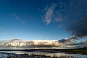Regenwolken über dem Wattenmeer