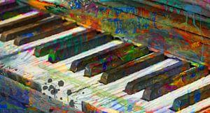 Piano toetsen abstract