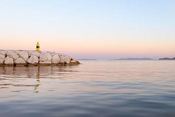 Leuchtturm im Sonnenuntergang von Els Van Geldre