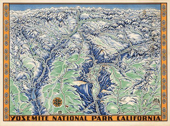 Yosemite National Park Californië van World Maps