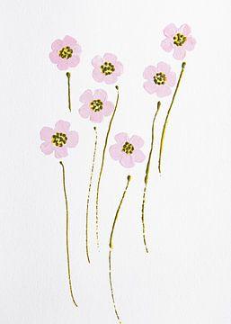 Blumen Eleganz hellrosa von Bianca ter Riet