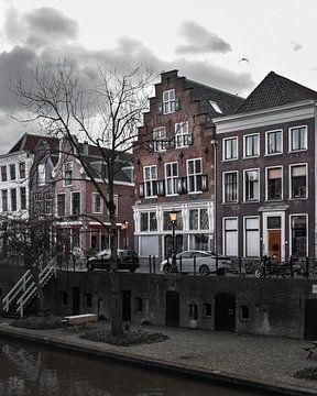 Donkere winterdag in Utrecht van Kim de Been