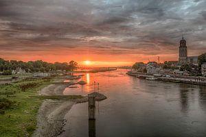 Sunset Deventer The Netherlands van