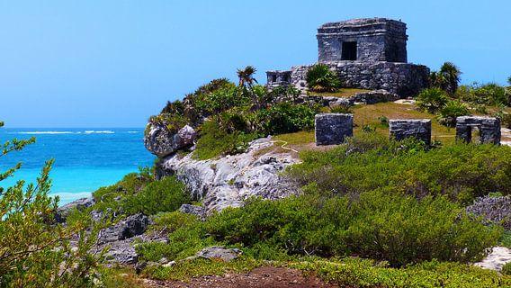 Maya Ruins Tulum van Marek Bednarek