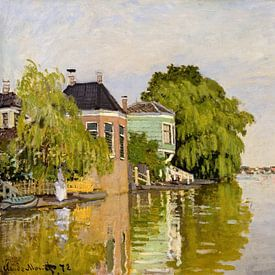 Häuser auf dem Achterzaan Artist-Claude Monet von Lars van de Goor