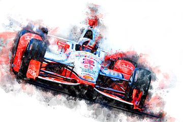 Juan Pablo Montoya Indianapolis 500 Winnaar 2015 van Theodor Decker