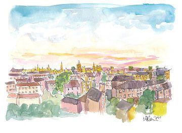 Dachterrassenansicht von Oxford England von Markus Bleichner