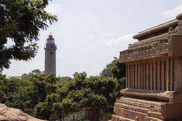 Vuurtoren van Mamallapuram (India) van Martijn Mureau