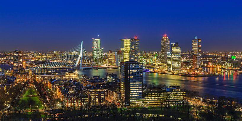Skyline Rotterdam vanaf de Euromast   Tux Photography - 5 van Tux Photography
