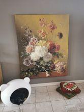 Klantfoto: Stilleven met bloemen in een vaas, Georgius Jacobus Johannes van Os, op canvas