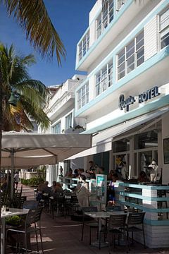 Miami Beach, Ocean Drive - Penguin Hotel van t.ART