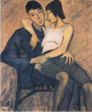 Liebespaar, Otto Mueller - ca.1914 von Atelier Liesjes