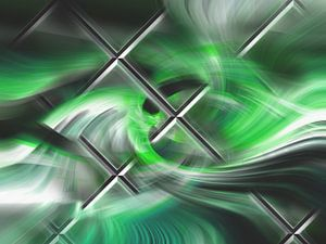 Abstract vlechtwerk met groen en zwart