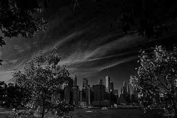 Skyline with trees van Edward van Hees