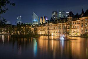 Den Haag: Hofvijver bij nacht van
